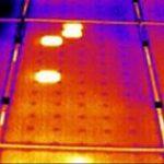 Panel fotowoltaiczny w termowizji
